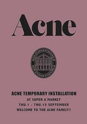 クリエイティブ集団Acneの限定店 スーパーAマーケットに出現
