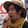 弟の誕生でさらに決意を固めた様子のいしだ壱成  - 写真は2011年12月1日、「みんなで決めよう『原発』国民投票」街頭アピール時のもの