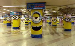 大阪駅・梅田駅の地下街にミニオンが出現!
