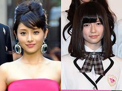 「世界で最も美しい顔100人」に初選出された石原さとみと島崎遥香