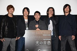 THE BACK HORNと熊切和嘉監督(中央)