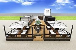 A|X アルマーニ エクスチェンジ初の海の家が由比ケ浜に