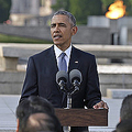 オバマ大統領は現職大統領として初めて広島市を訪問した(写真:AP/アフロ)