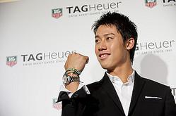テニスプレーヤー錦織圭、高級時計タグホイヤーとパートナーシップ契約