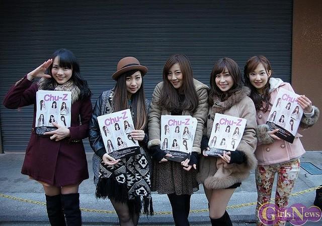 Chu-Z(左からKANA・KAEDE・LUNA・あすか・ミク)