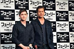 (左から)ローガン・ラーマンとブラッド・ピット