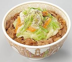 「春キャベツ牛丼」