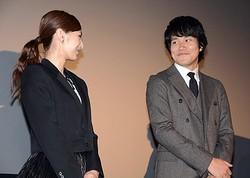 登壇した北川景子と松山ケンイチ