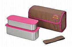サーモス「フレッシュランチボックスDSA600W」(ピンク)
