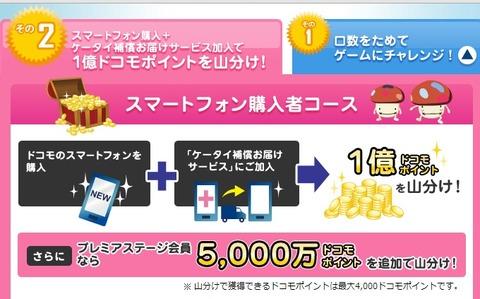 NTTドコモ、1億ドコモポイントを山分けなどの「ドコモプレミアクラブ大感謝祭」を実施中