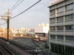 業平橋駅から見たタワー建設予定地(撮影:吉川忠行)