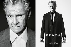 PRADA春夏メンズ広告はモノクロ 73歳の俳優ハーヴェイ・カイテルら起用