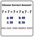 7+7÷7+7×7-7=? 92%もの人が間違える計算問題 あなたは解けるか