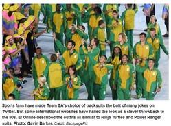 批判が殺到した南アフリカの公式ユニフォーム(出典:http://www.iol.co.za)