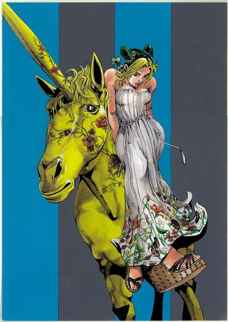 グッチが漫画家・荒木飛呂彦氏とのコラボレーションによるウィンドウデザインを全世界で展開