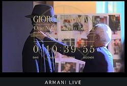 アルマーニ、北京からファッションイベント生中継とTwitter連動トークショー
