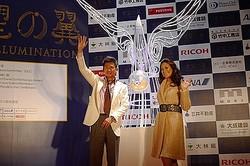 銀座エリア13ブランド共同のイルミネーション初開催 カズが点灯