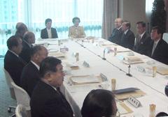 自民党本部で28日に開かれた党紀委員会(撮影:佐谷恭)