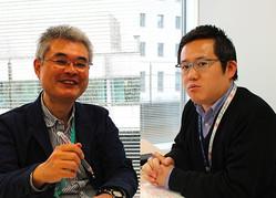 ニッポン放送の煙山光紀アナウンサー(写真左)と、洗川雄司アナウンサー(右)。今日7日のJリーグ開幕戦は煙山アナが実況を、洗川アナがピッチレポーターを務める。