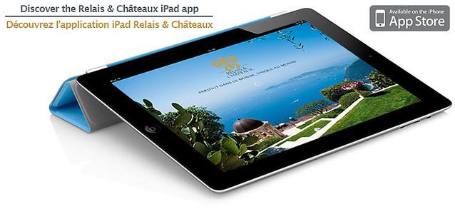 ルレ・エ・シャトーのiPhone用アプリに続き、 iPad用アプリが登場!
