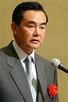 来賓として出席した、中国の王毅駐日大使(撮影:吉川忠行)