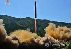 朝鮮中央テレビが公開した発射の写真=(聯合ニュース)