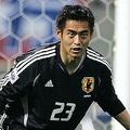 写真は、ドイツW杯アジア地区予選・インド代表との試合から。 (2004年6月、撮影:フォート・キシモト)