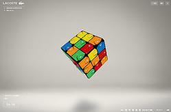 ラコステのポロシャツがルービックキューブに?80周年記念ゲーム公開