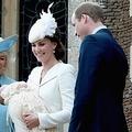 シャーロット王女の洗礼式。対照的な表情を見せるウィリアム王子&キャサリン妃とカミラ夫人。(画像はtwitter.com/kensingtonroyalより)