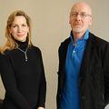 『雨ニモマケズ 外国人記者が伝えた東日本大震災』の日本語版を出版したルーシー・バーミンガム氏(左)とデイヴィッド・マクニール氏