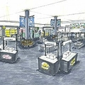 """エントランスモールのイメージ図。ショップゾーンでは小さな専門店を集め、""""街""""をイメージしている"""