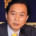 日本外国特派員協会で会見する鳩山由紀夫元首相
