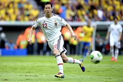 コンフェデ杯の初戦は、サッカー王国・ブラジルが相手。試合は0-3と完敗だった。  (撮影:フォート・キシモト)
