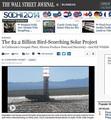 太陽光発電所で鳥が大量に焼死
