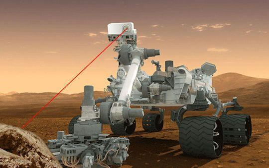火星探査車「キュリオシティ」 なんと自動レーザー照射が可能に ...