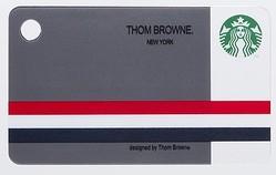 トム・ブラウンがデザインしたスタバカード GQ付録で登場