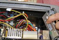 ハーディスクが入った黒いボックス