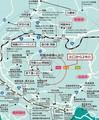 熊本県の「阿蘇観光マップ」に編集部加筆