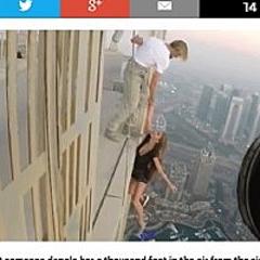 Breaking News】高層ビルで撮影中のモデル、300mの高さからあわや転落の騒動(ドバイ)