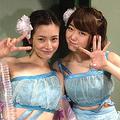 塚本まり子と峯岸みなみ(画像は『湯浅洋 Google+』のスクリーンショット)