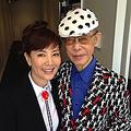 戸田恵子のブログに掲載されたやなせ氏とのツーショット写真  - (画像はスクリーンショット)