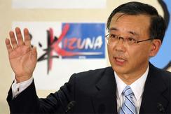 27日、自民党本部で総裁選の出馬会見を行う谷垣禎一財務相。(撮影:吉川忠行)