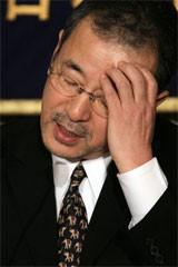 ライブドアの平松社長=06年3月24日(資料写真:吉川忠行)