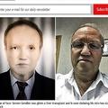 黒人からの肝移植を受けたロシアの白人男性(画像はmirror.co.ukのスクリーンショット)