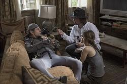 本作のヒーロー、シーザーを演じたアンディ・サーキスとマット・リーヴス監督  - (C)2014 Twentieth Century Fox
