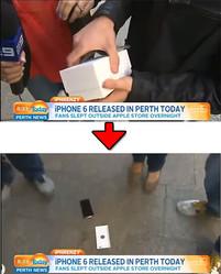 『iPhone 6』を落下