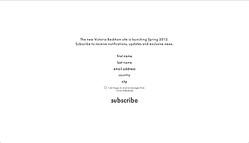 ヴィクトリア・ベッカム、初のオンラインショップ開設