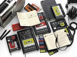 オーディオカセット型 モレスキン限定版ノートブック発売