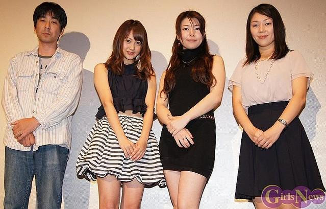 左から田尻裕司監督・浜田翔子・緒川凛・竹田朋華