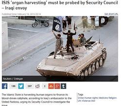 イラク北部で臓器を摘出された多数の遺体を発見(画像はrt.comのスクリーンショット)